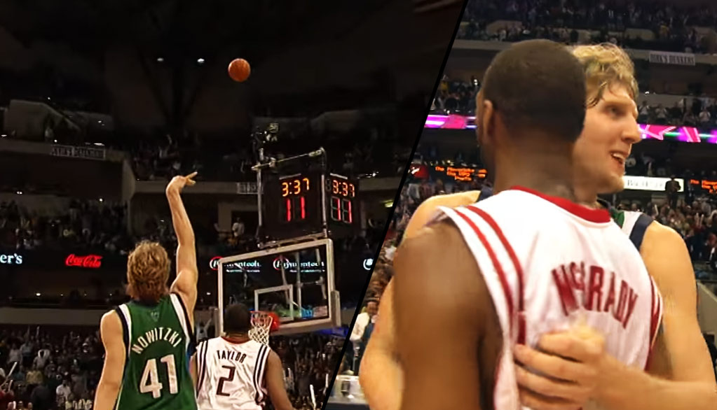 2004: Dirk Nowitzki Drops 53 on T-Mac (48/9/9) and the Rockets
