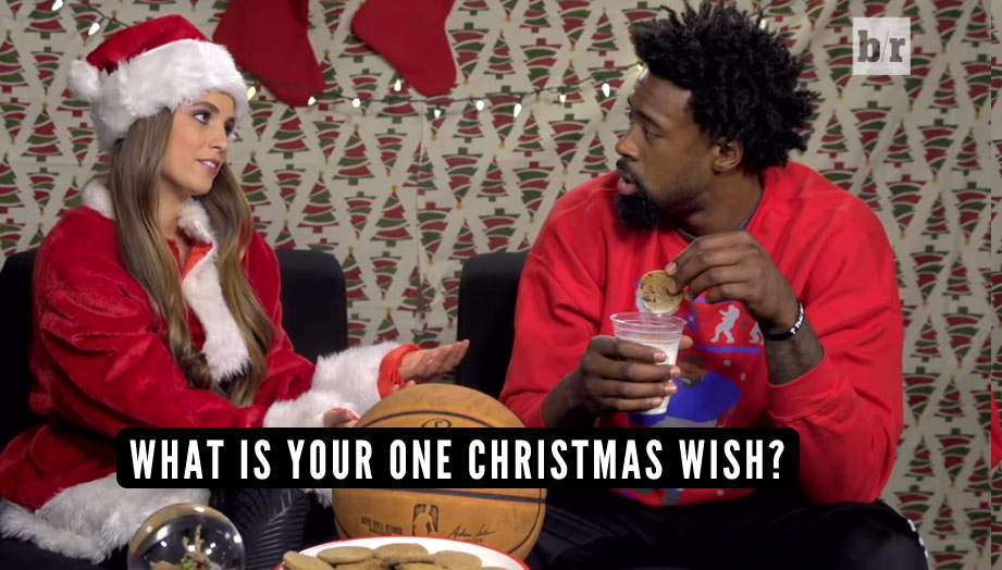Santa DeMita: What is DeAndre Jordan's One Christmas Wish?