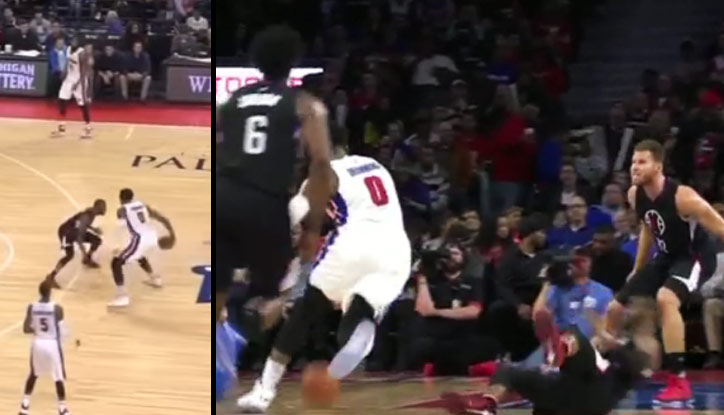 Andre Drummond Goes Behind The Back, Drops Chris Paul?!