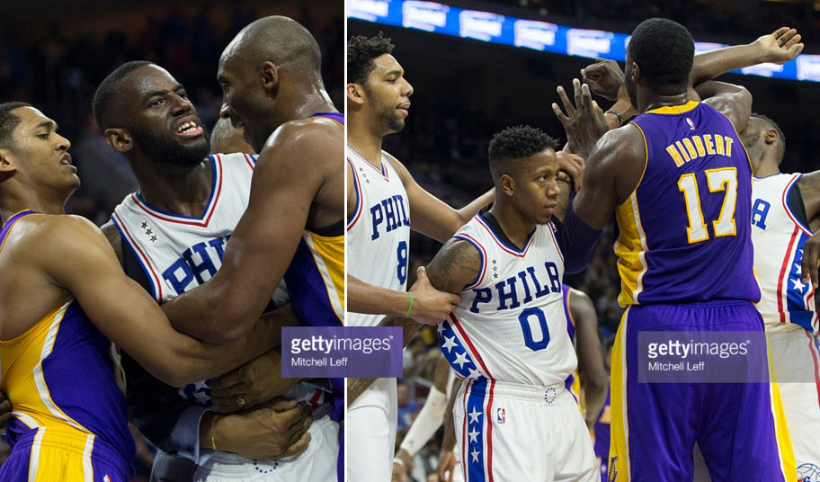 Roy Hibbert Pushes Ref During Scuffle With 76ers
