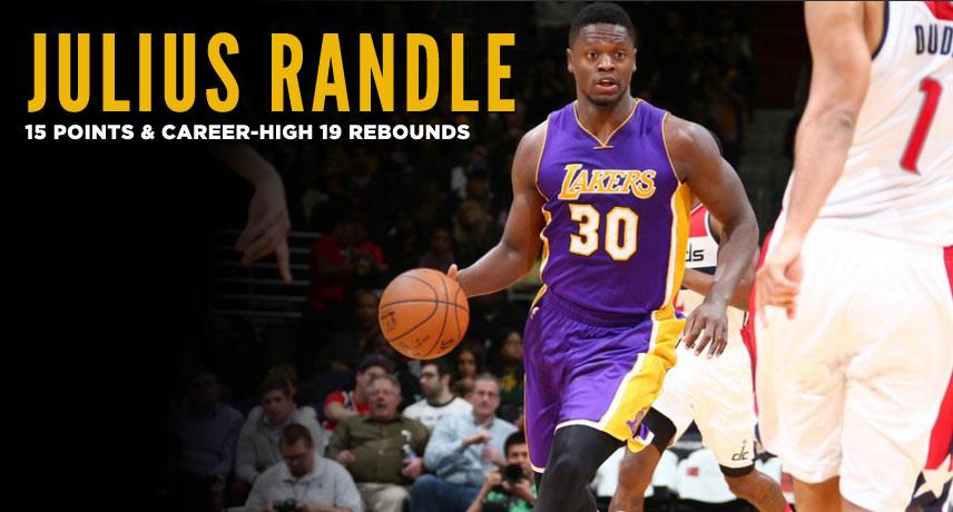 Julius Randle 15 Points & Career-High 19 Rebounds vs Wizards