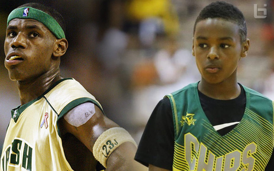 lebron james jr refuses to wear dad s number so people won t know