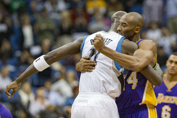 The Best Moments Between Kobe Bryant and Kevin Garnett