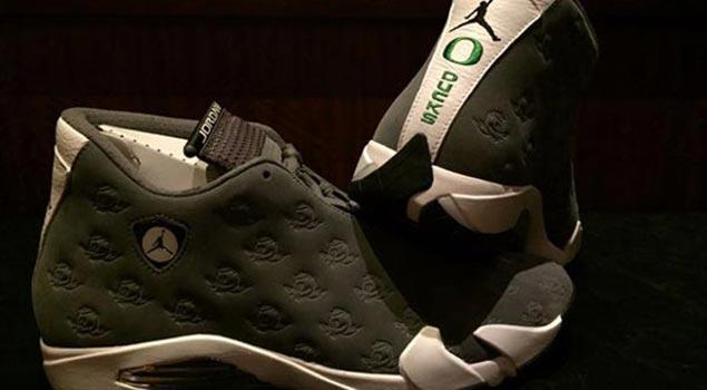 """Air Jordan XIV """"Oregon Ducks"""" PE"""