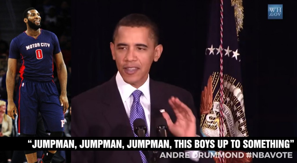 Barack Obama Rapping 'Jumpman,' Wants You To Vote Andre Drummond For the All-Star Game