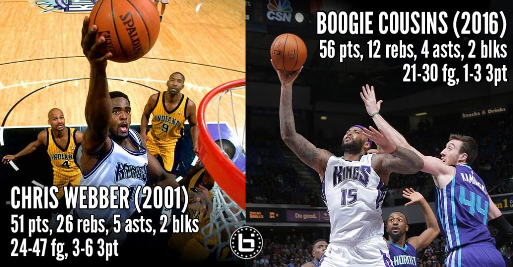 DeMarcus Cousins Scores Career & Franchise High 56 In Double OT Loss To The Hornets