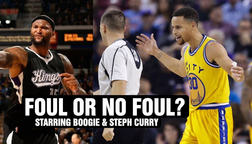 Foul or No Foul? Steph Curry Vs DeMarcus Cousins (3 Examples)