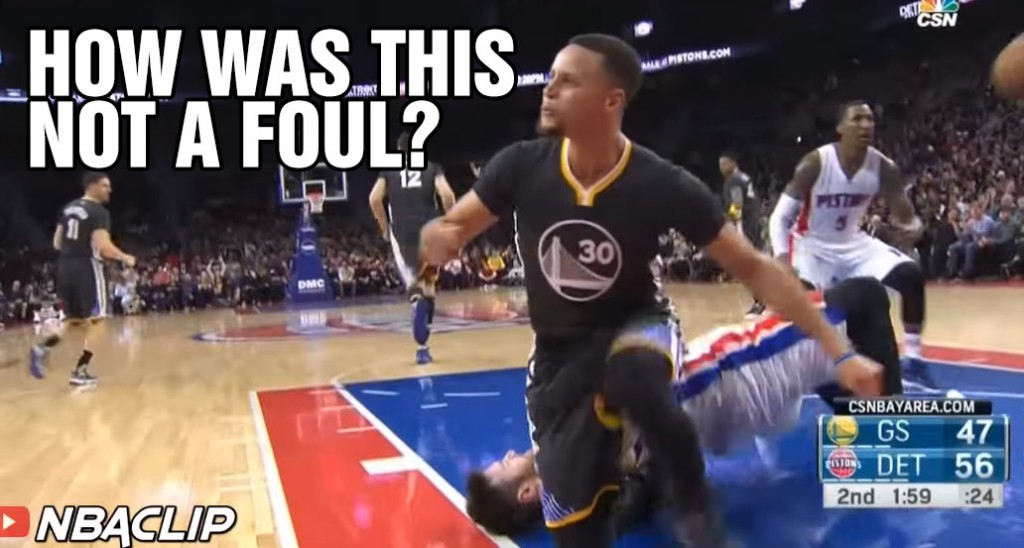 Steph Curry Gets A Tech For Arguing An Obvious(?) And-One Foul