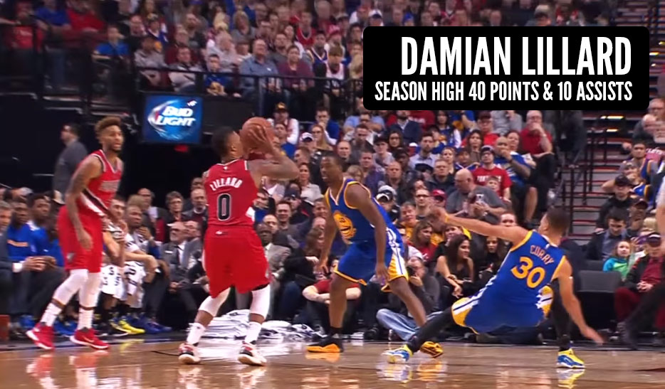 Damian Lillard Drops Steph Curry, 40 Points & 10 Assists on the Warriors