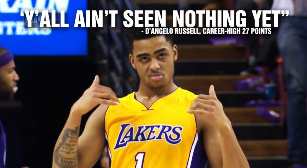 "D'Angelo Russell Career-High Game Ruined By Ankle Injury, Says ""Y'all Ain't Seen Nothing Yet"""
