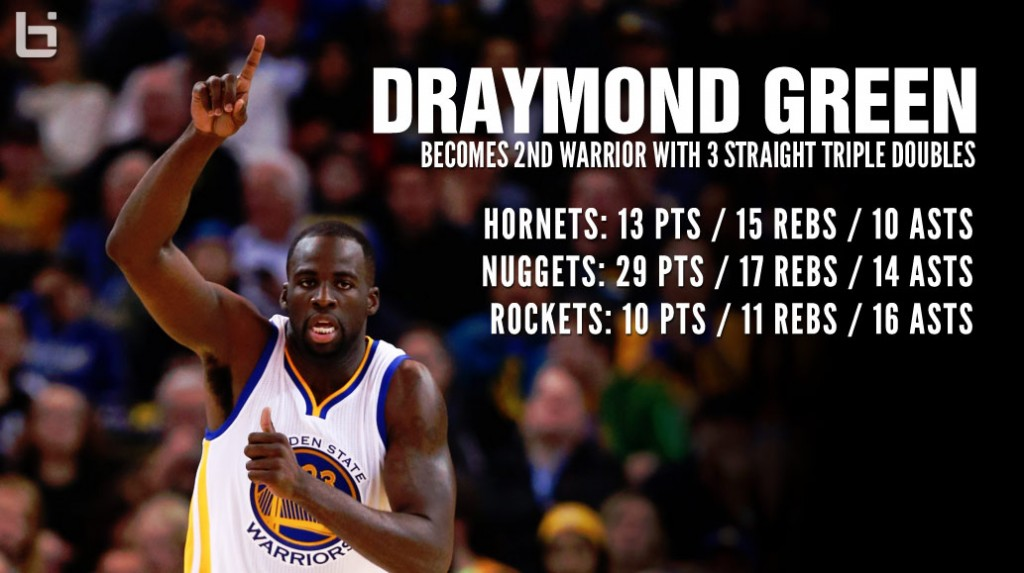 Draymond Green Becomes 1st Warrior Since 1960 With 3 Straight Triple Doubles!