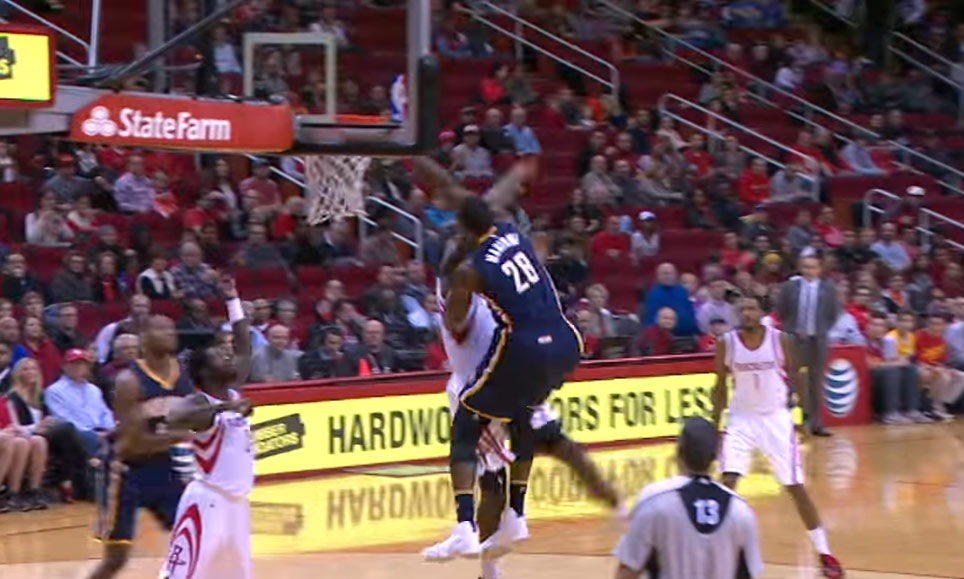 Ian Mahinmi Dunking on Clint Capela Just Isn't as Exciting As When Kobe Did It