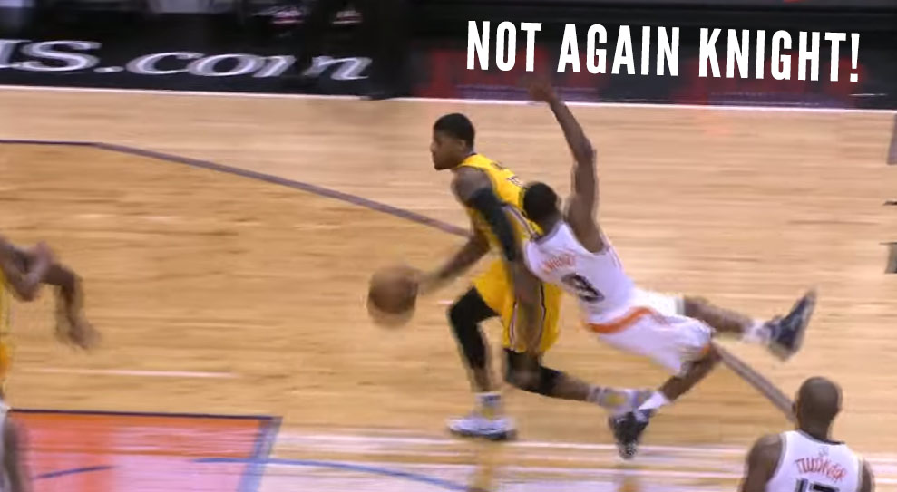 Paul George Spins & Brandon Knight Ended Up On The Floor Again
