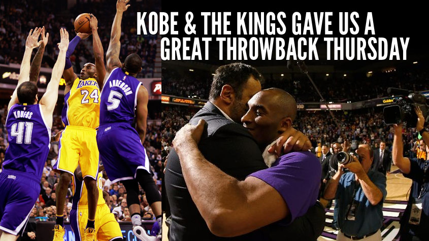 Kings Blow 27 Point Lead As Kobe Bryant Scores 28 in 3 Quarters & Dunks In His Last Game In Sacramento