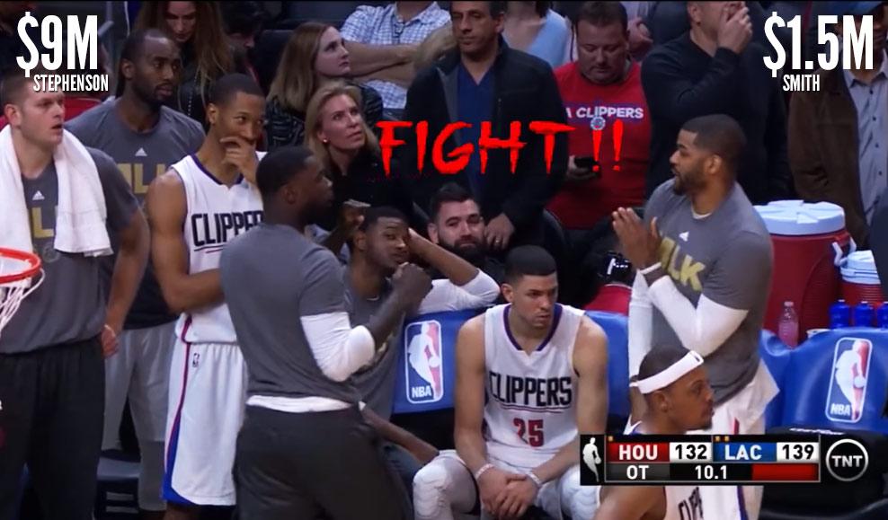 DNP's Lance Stephenson & Josh Smith Slap-Boxing During OT Vs The Rockets