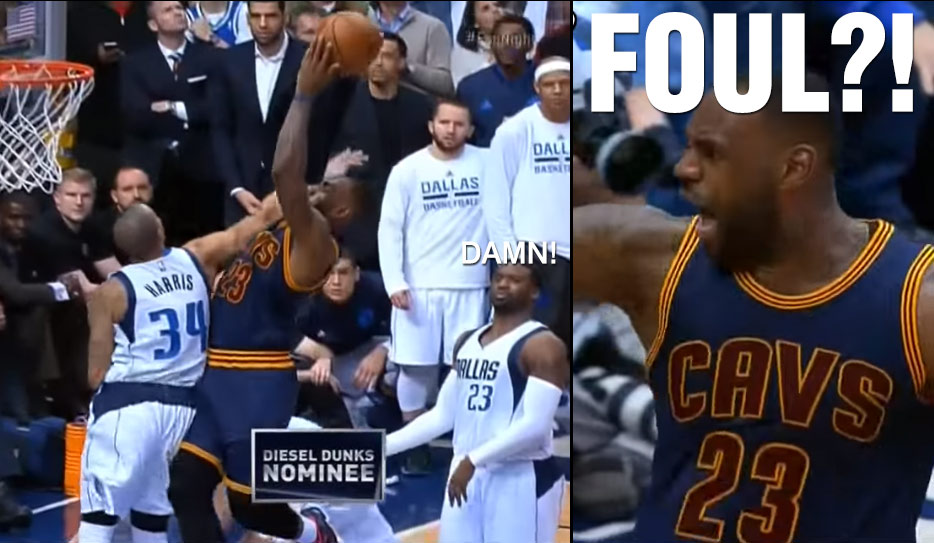LeBron Forces OT With This Poster Dunk on Devin Harris, No Foul?