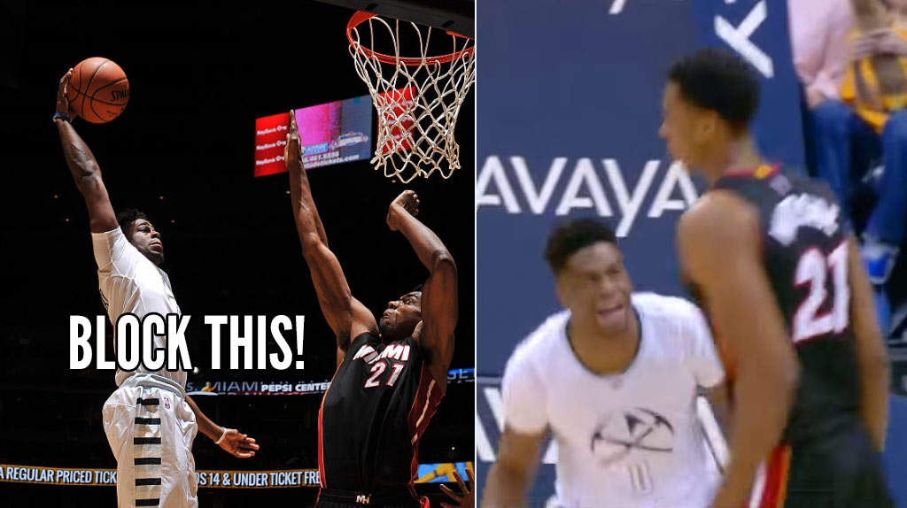 Hassan Whiteside Rejected 11 Shots, This Dunk By Emmanuel Mudiay Was Not One Of Them