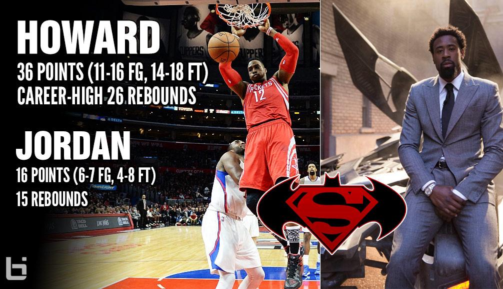 Superman vs Batman: Dwight Howard Has Career-Night In Loss To DeAndre Jordan & Clippers
