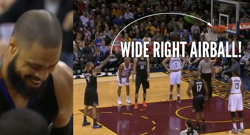 A Laughing Tyson Chandler Airballs A Free Throw…Wide-Right!