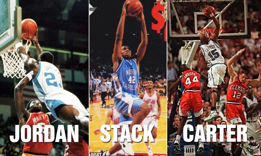 Better UNC Dunker: Michael Jordan, Jerry Stackhouse or Vince Carter?