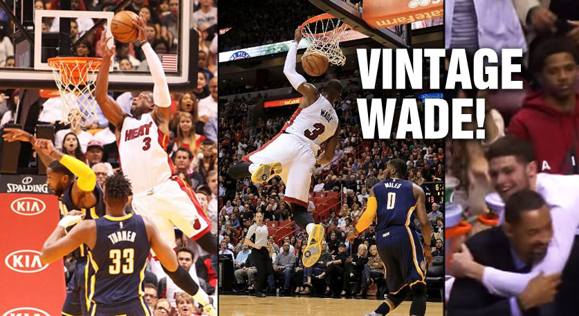 Dwyane Wade's First Lob Of The Season Came During A Vintage Clutch Performance