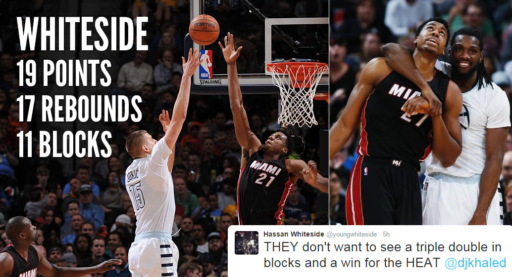 Hassan Whiteside Unleashed! 19 Points, 17 Rebounds & 11 ...