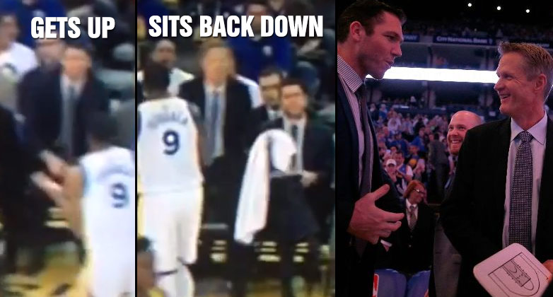 Luke Walton Forgets He's Not The Head Coach Anymore, Stands Up Then Sits Back Down