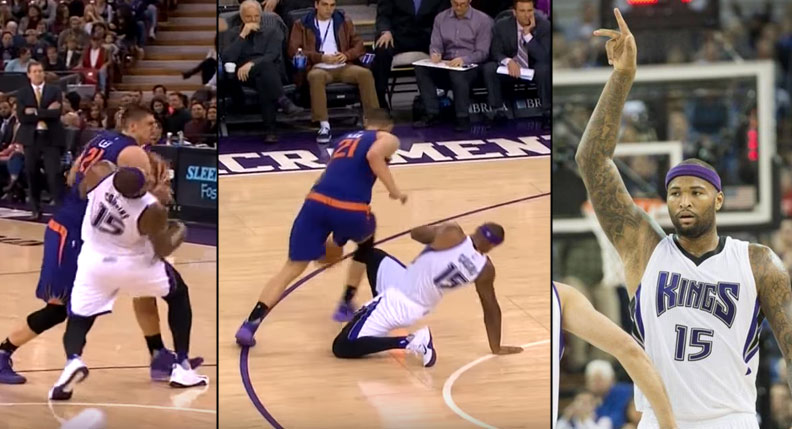 DeMarcus Cousins Takes An Elbow To The Face, Destroys Suns in 142-119 Win