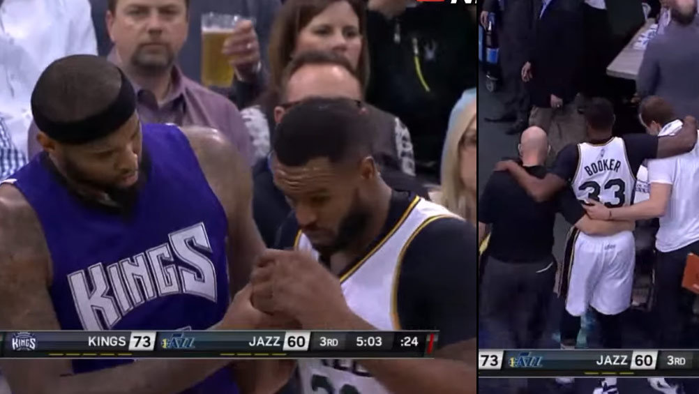 DeMarcus Cousins Gives Trevor Booker A Concussion With Inadvertent Slap To The Face