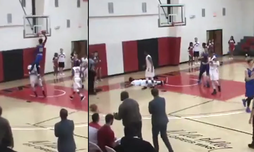 Get a Body Bag! Marquis Waller Destroys Defender Who Tried To Take A Charge