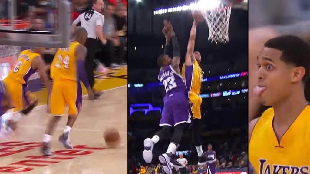 Jordan Clarkson Steals The Ball From Kobe Bryant Then Dunks on Ben McLemore