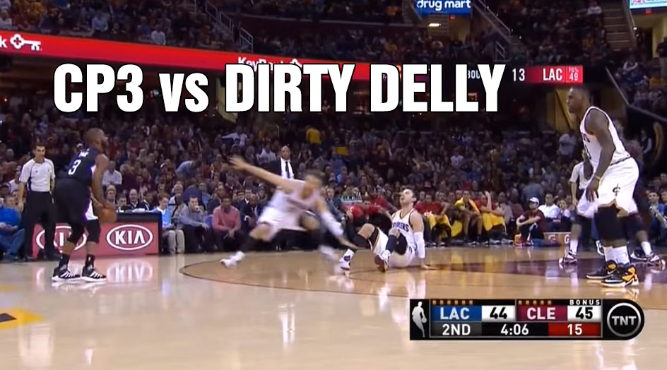 "Chris Paul Drops Matthew ""Dirtiest Player In The League"" Dellavedova To The Floor"