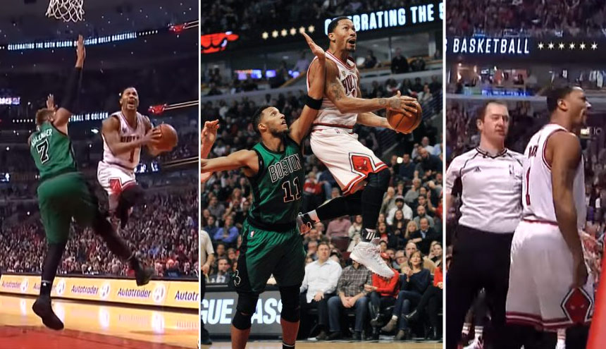 C'Mon Refs! Derrick Rose Couldn't Get A Foul In The 4th Quarter