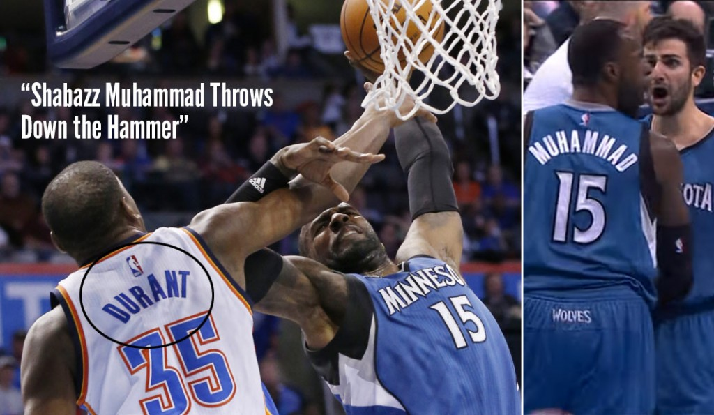 Shabazz Muhammad Dunked On Kevin Durant, NBA Doesn't Want To Admit It was KD