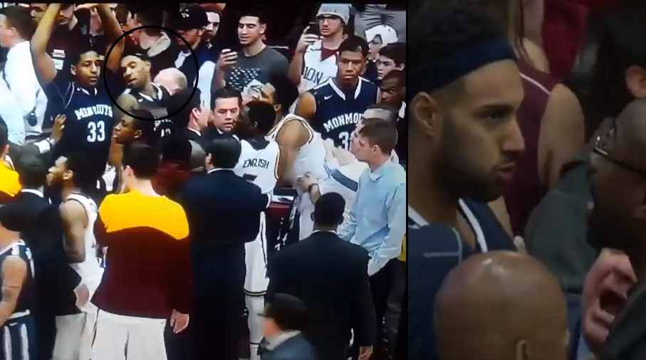 Fight Breaks Out During Iona-Monmouth Post-game Handshake Line
