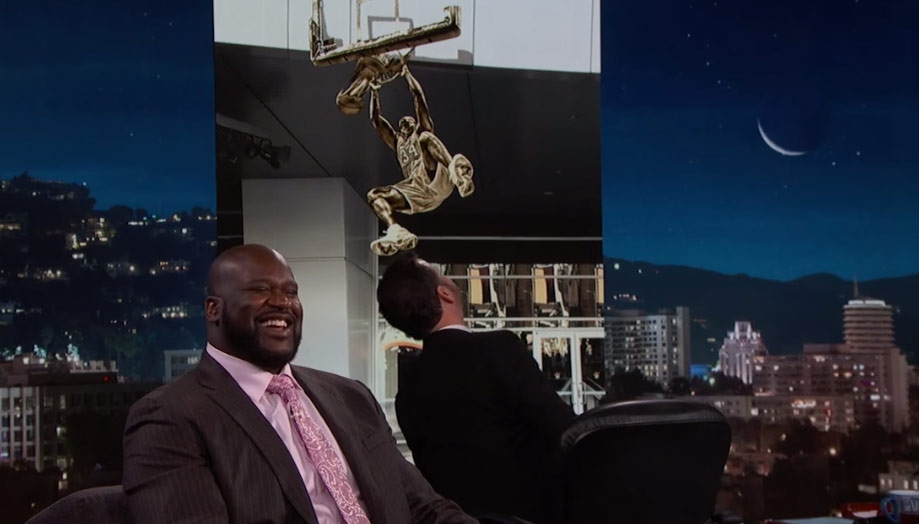 Shaq Is Getting A Statue Outside Of Staples Center, Thinks Jimmy Kimmel Is Lying To Him About The Statue