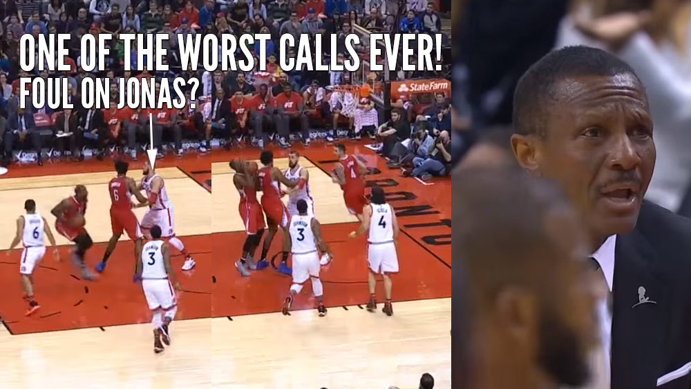 REF FAIL: Clippers Collide & A Foul Is Called On The Raptors
