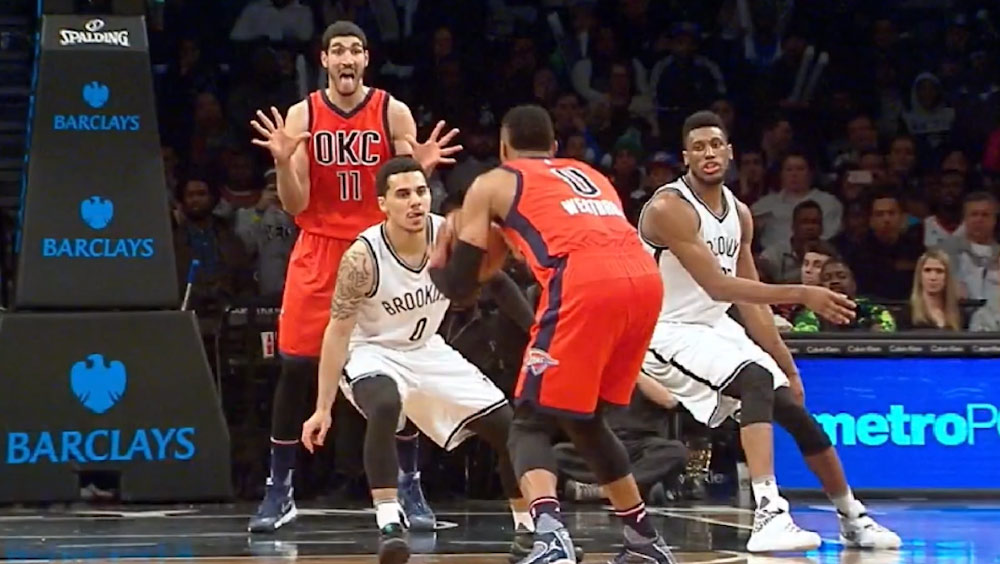 "Enes Kanter's ""I'm Open"" Face!"