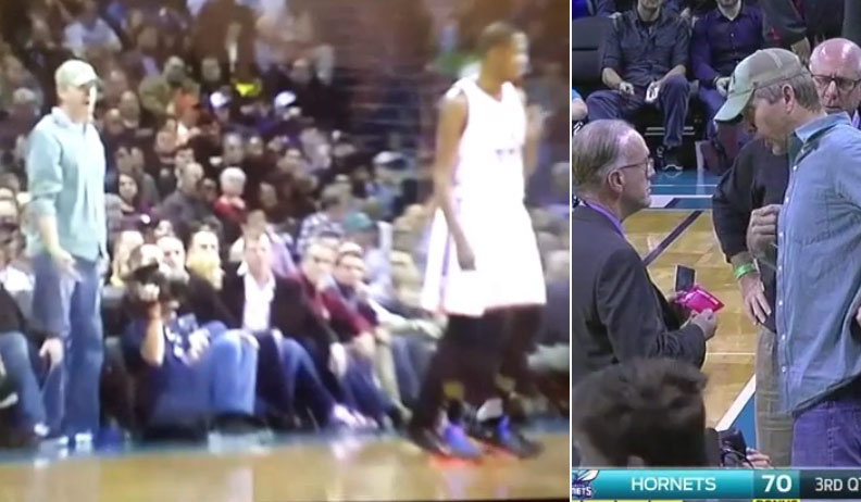 Hornets Fan Given A Red Card(?!) For Yelling At Kevin Durant