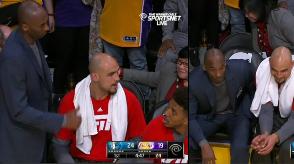 Kobe Makes Rookie Teammate Get Off The Bench So He Could Sit Down
