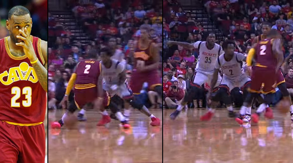 Kyrie Irving Crossed Patrick Beverley & The Defender Behind Him With A Behind The Back Move!