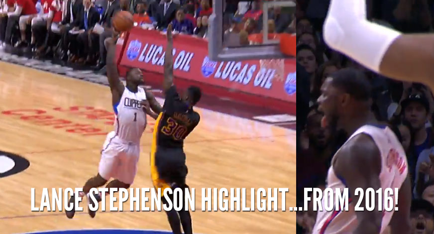 Lance Stephenson Throws Down Over Julius Randle, DeAndre Jordan Goes Crazy