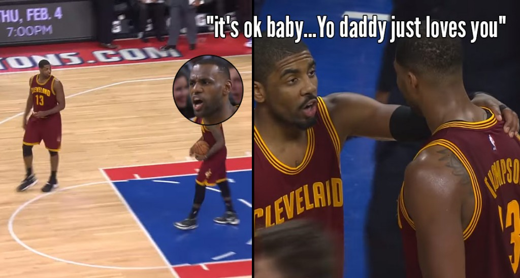 LeBron Gets Angry At Tristan Thompson, Kyrie Irving Tells TT It's OK