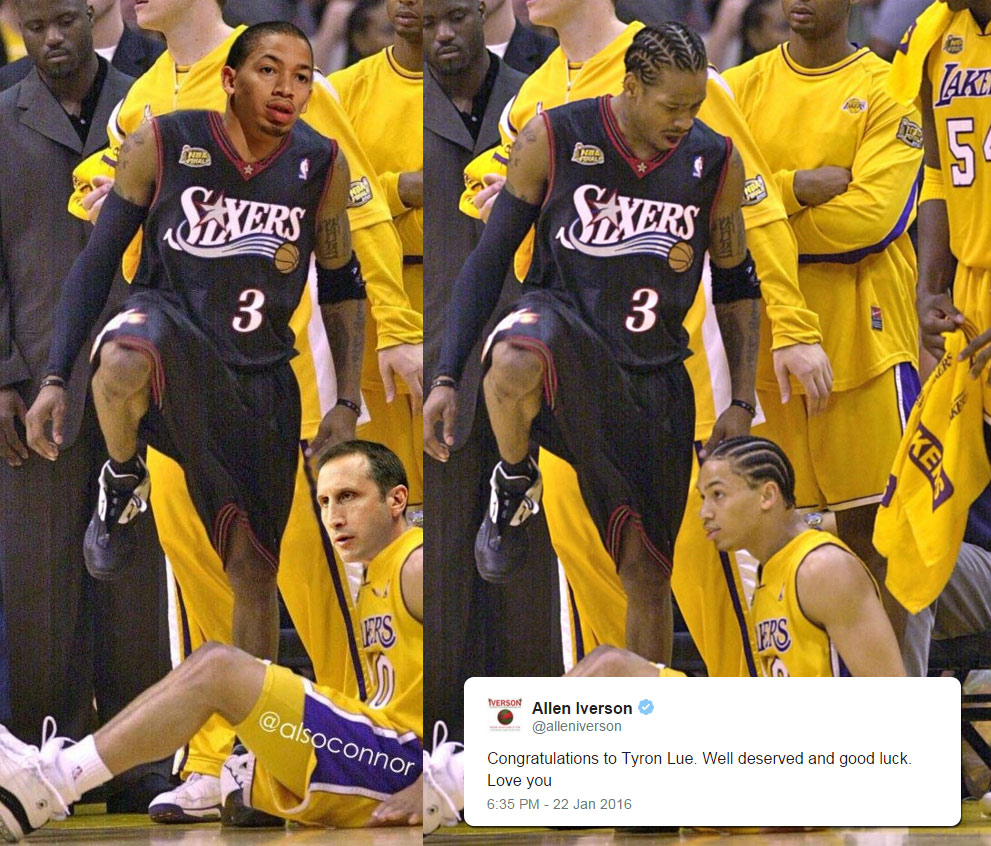 Allen Iverson Congratulates New Cavs Coach Tyronn Lue After Meme ... 11fa8b833