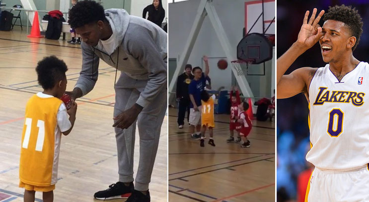 Proud Dad Nick Young Cheers On Lil Swaggy P At His First Organized Basketball Game