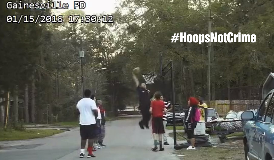 Person Calls 911 on Kids Playing Basketball, Cop Arrives, Plays & Dunks Against Kids