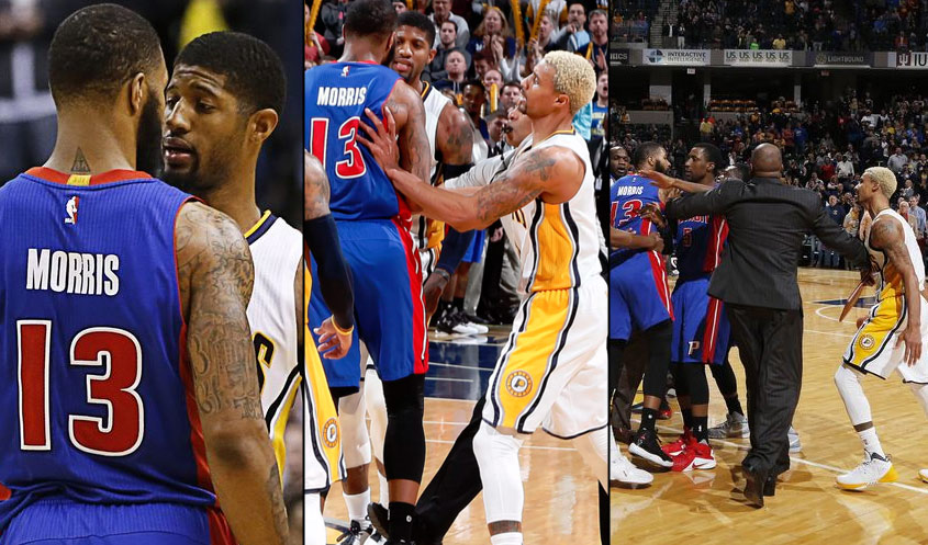 Paul George Scores 21 Points in Last 5 Minutes, Gets Into Postgame Scuffle With Marcus Morris