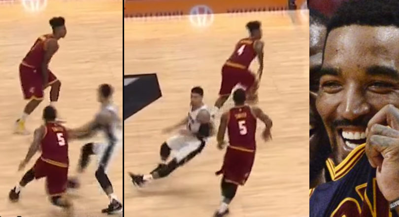 JR Smith Breaks Danny Green's Ankles….WITHOUT THE BALL!