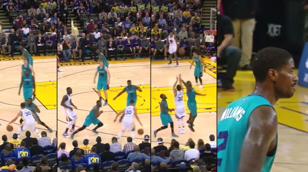 Steph Curry Behind The Back Crossover on Kemba Walker & 3 Over Marvin Williams