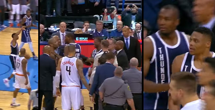 PJ Tucker Has Words With Westbrook & Durant After Russ Ends The Game With A Block & Thumbs Down To the Crowd